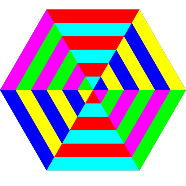 Hexagon Triangle Rainbow PNG Clip art