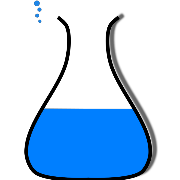 Chem Flask Blue PNG Clip art