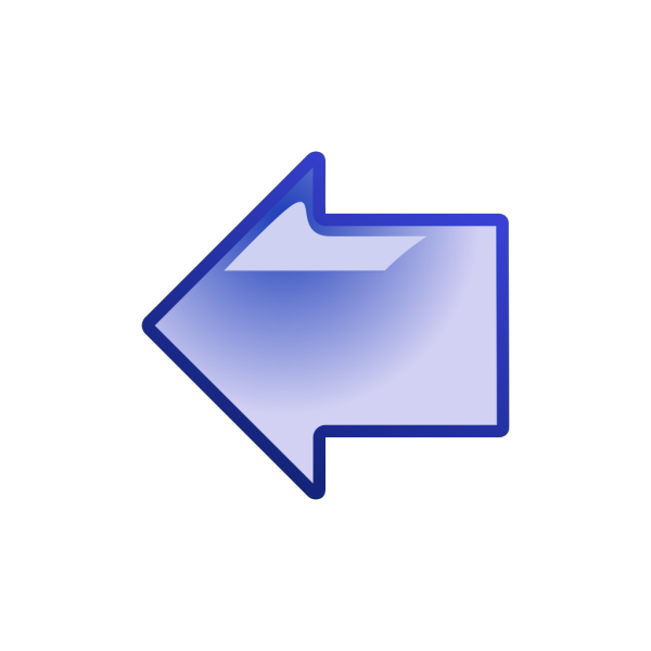 Blue Arrow Pointing Left PNG Clip art
