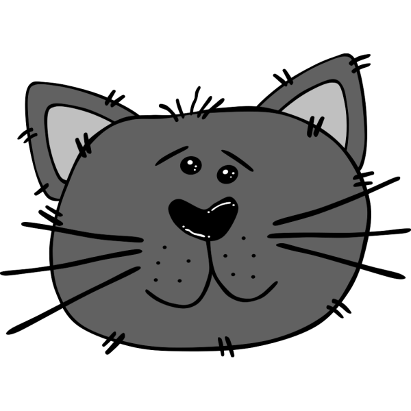 Cartoon Cat Face PNG Clip art