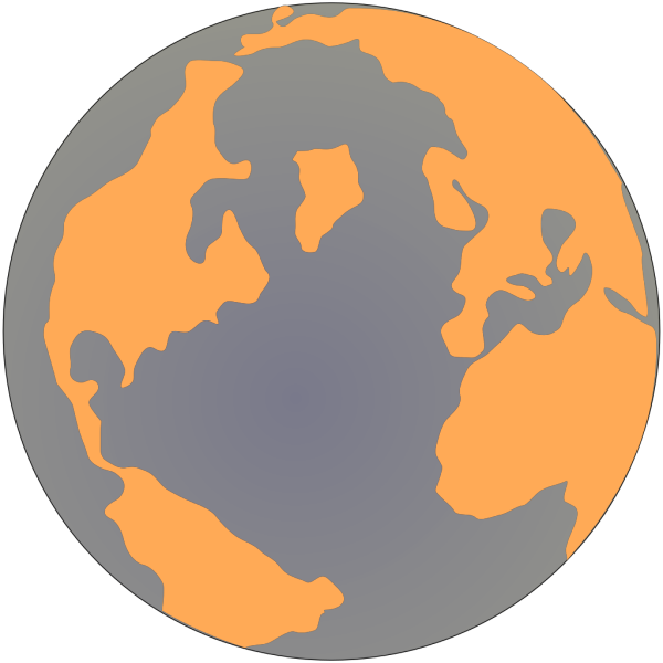 Orange And Blue Globe 2 PNG Clip art