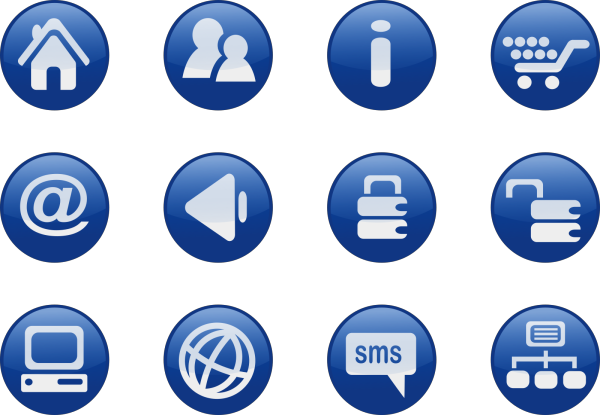 Blue Wing PNG icons