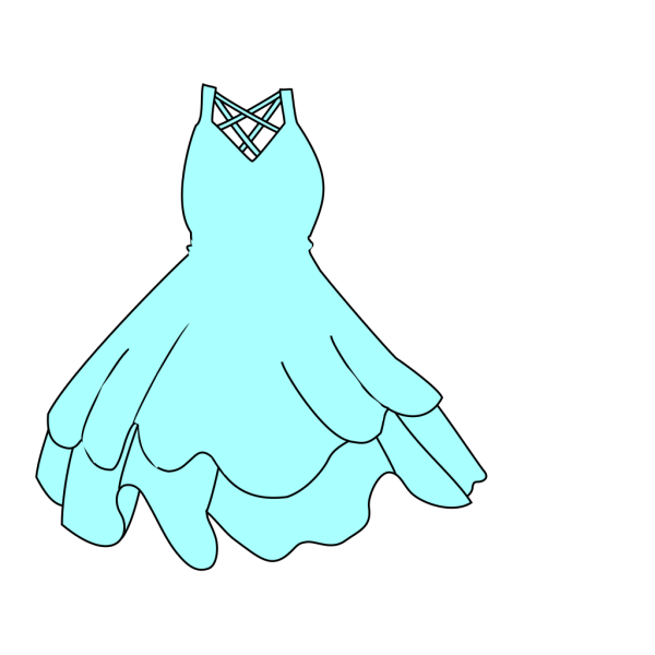 Pale Blue Dress PNG Clip art