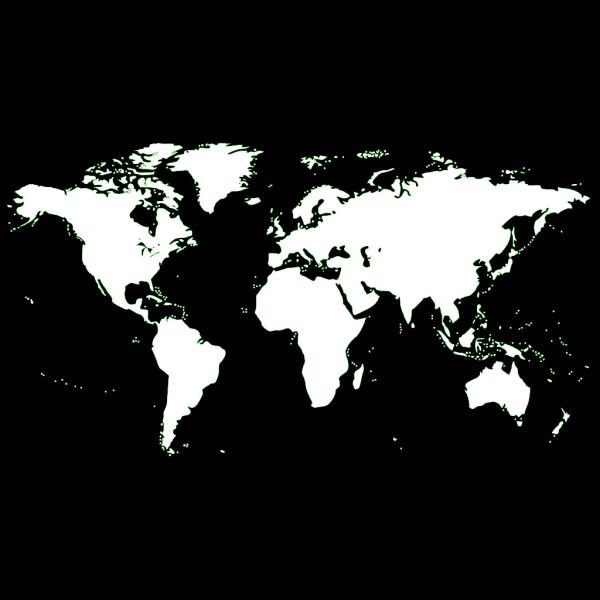 Light Blue World Map PNG Clip art