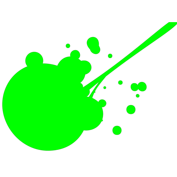 Green Paint Splatter PNG Clip art