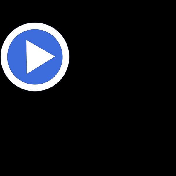 Aqua Blue Button (no Shadow) PNG Clip art