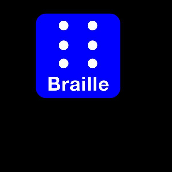 Braille Blue Clip Art PNG Clip art