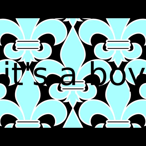 Baby Blue Fleur De Lis PNG Clip art