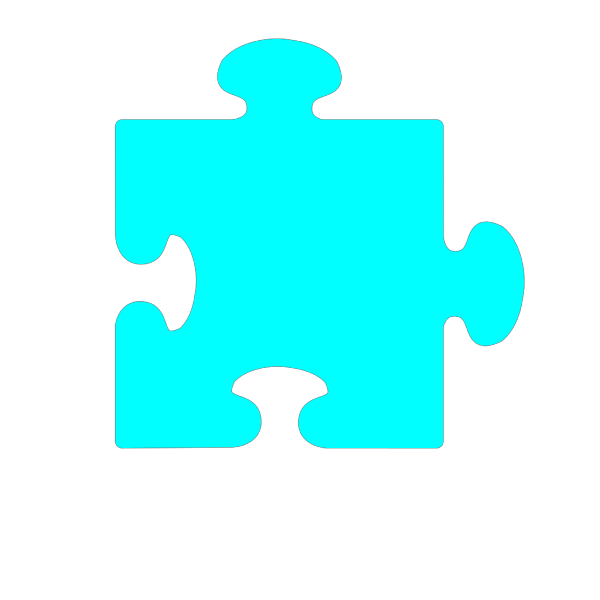 Blue Jig Saw PNG Clip art