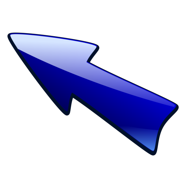 Arrow With An B Blue PNG Clip art