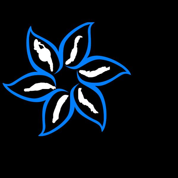 Blue Flower Outline PNG Clip art