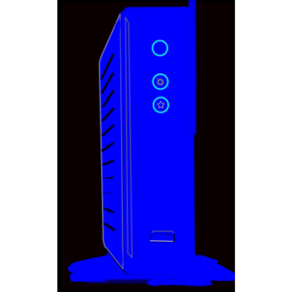 Blue External Hdd PNG Clip art