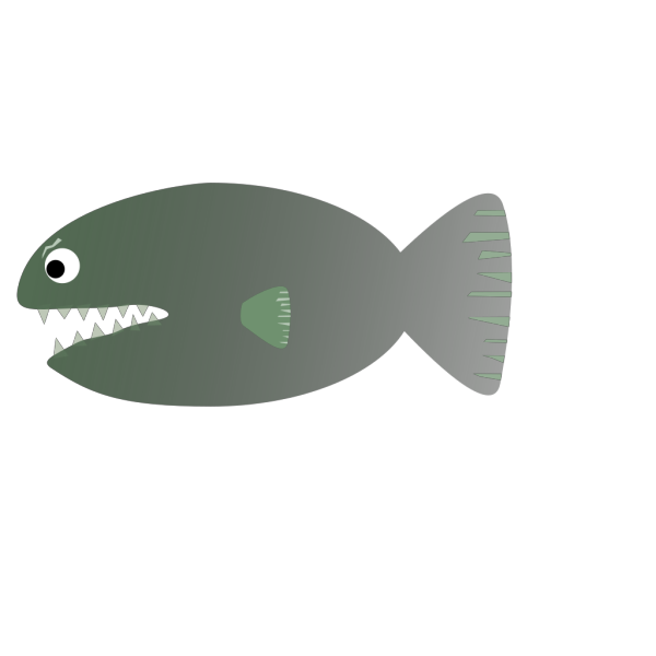 Piranha Blue PNG Clip art