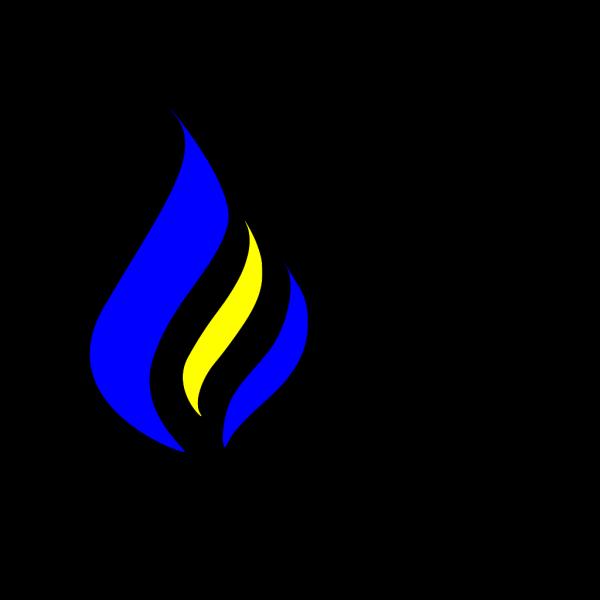 Blue Flame Simpleblueblack PNG Clip art