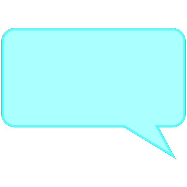 Dialog Bubble Rectangle Blue PNG Clip art