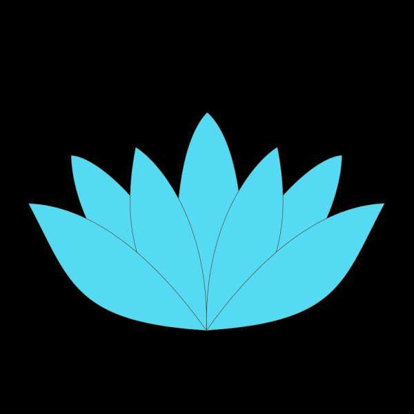 Blue Lotus Flower PNG Clip art