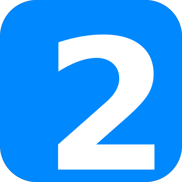 Blue Number Two PNG Clip art