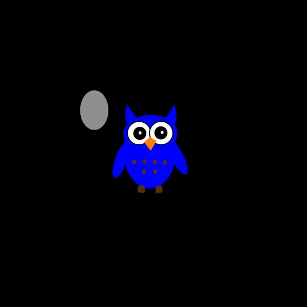 Dark Blue Owl PNG Clip art