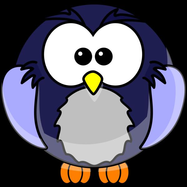 Blue Cartoon Owl PNG Clip art