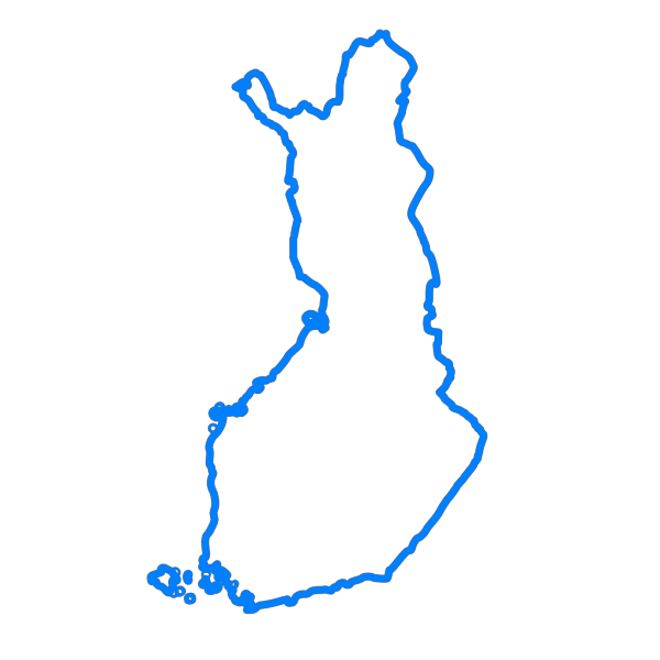 Finland Blue Map PNG images