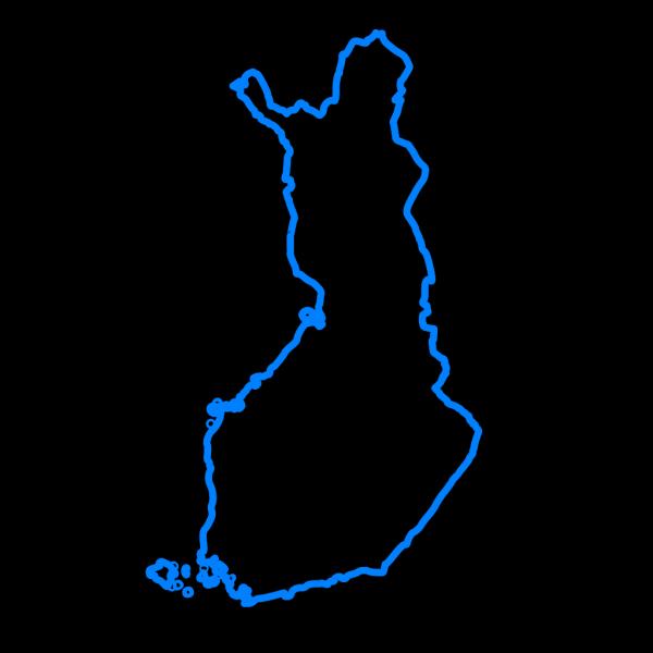 Finland Blue Map PNG Clip art