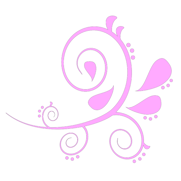 Paisley Curves Pink And Blue PNG Clip art