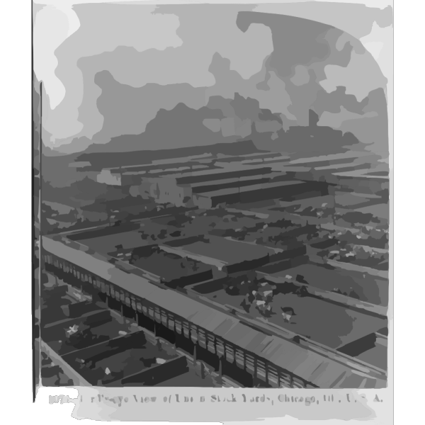Birds-eye View Of Union Stock Yards, Chicago, Ill., U.s.a. PNG images