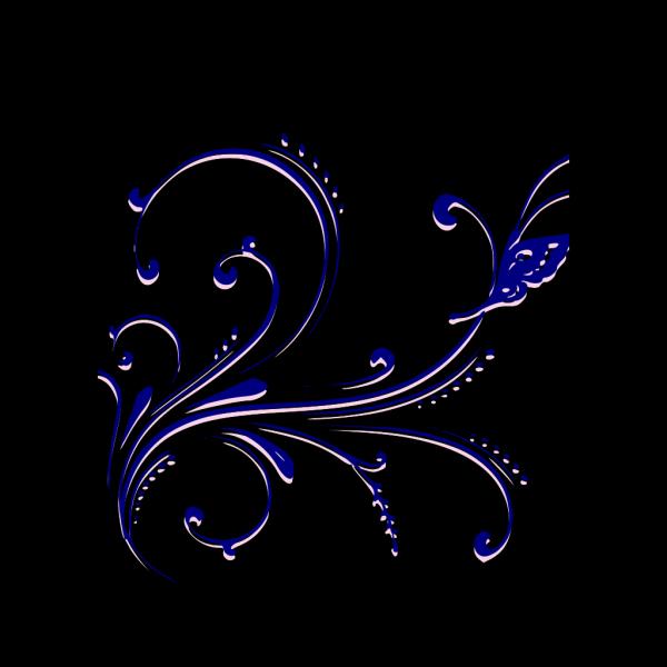 Butterfly Flourish PNG Clip art