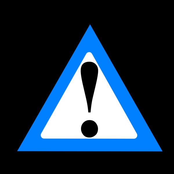Black Blue Warning 1 PNG Clip art