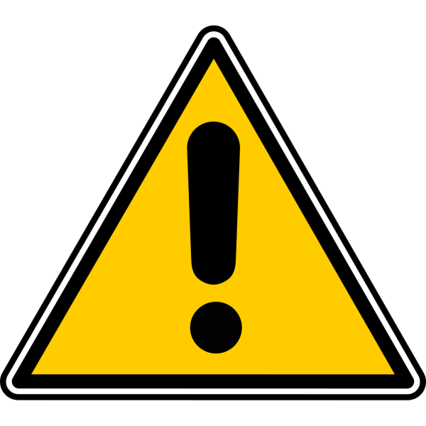 Black Blue White Warning 1 PNG Clip art