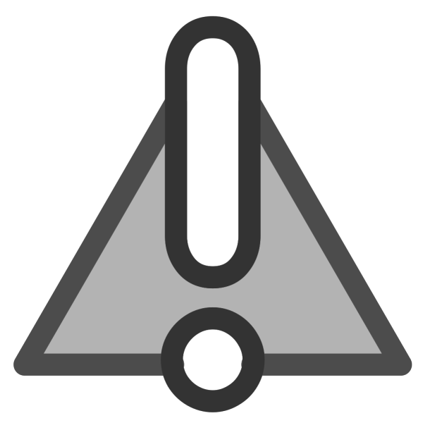 Black Blue Black Warning 1 PNG Clip art