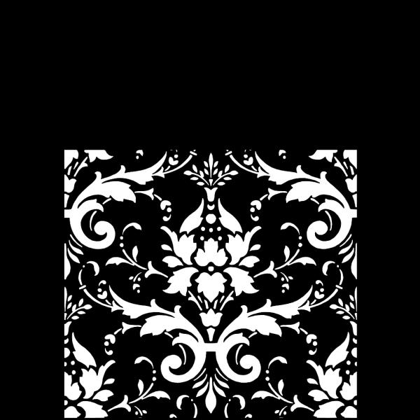 Tiffany Blue White Damask PNG Clip art