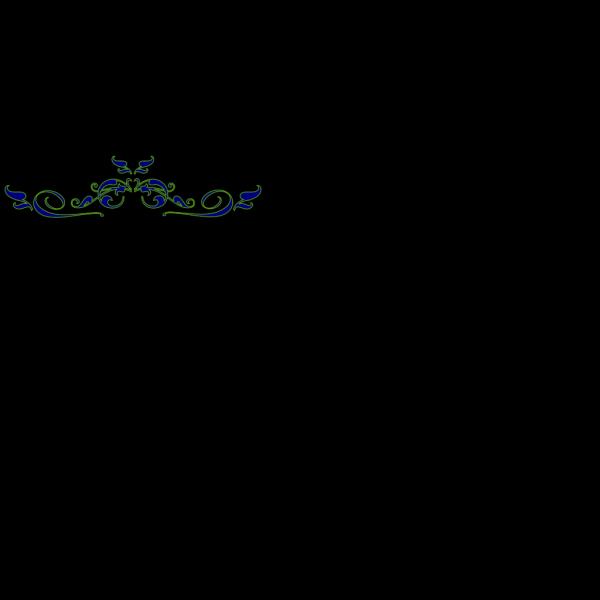 Swirl Dmask Monogram PNG Clip art