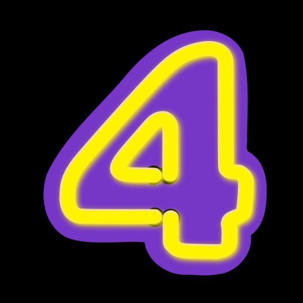 Blue Number Four PNG Clip art