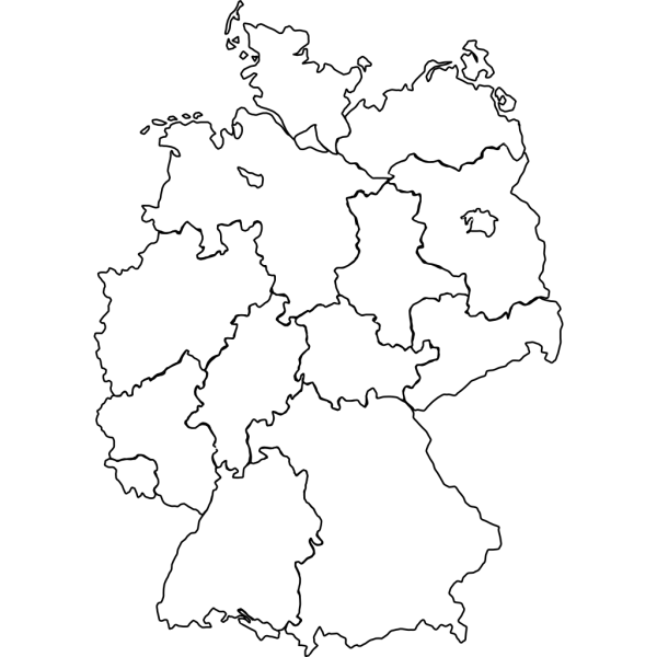 Germany Map Blue PNG Clip art