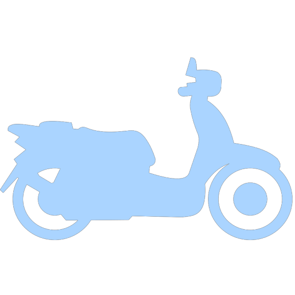 Blue Scooter PNG Clip art