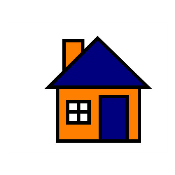 Orange And Blue House PNG Clip art