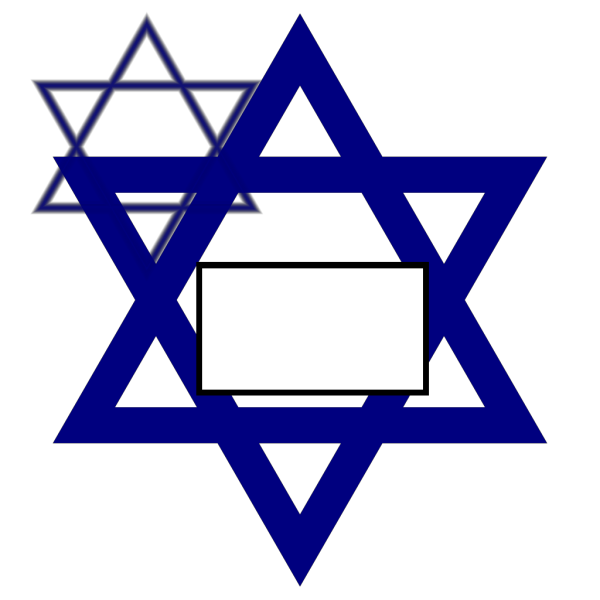Dark Blue Star Of David PNG Clip art