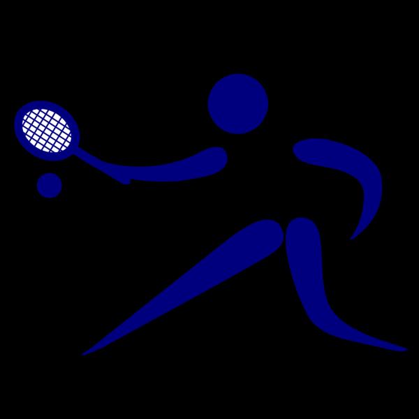 Blue Tennis Player PNG Clip art