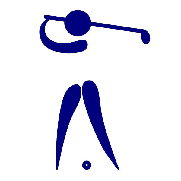 Blue Golf Player PNG clipart
