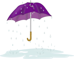 Tattered Umbrella In Rain PNG Clip art