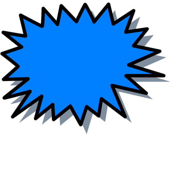 Blue Explosion PNG image