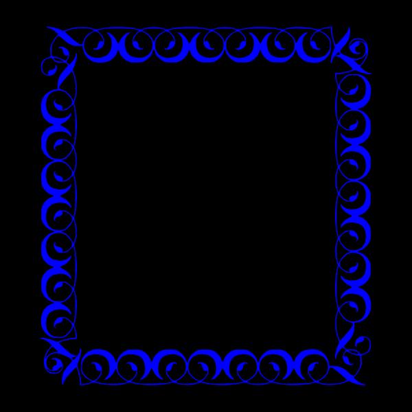 Blue Border Design PNG Clip art