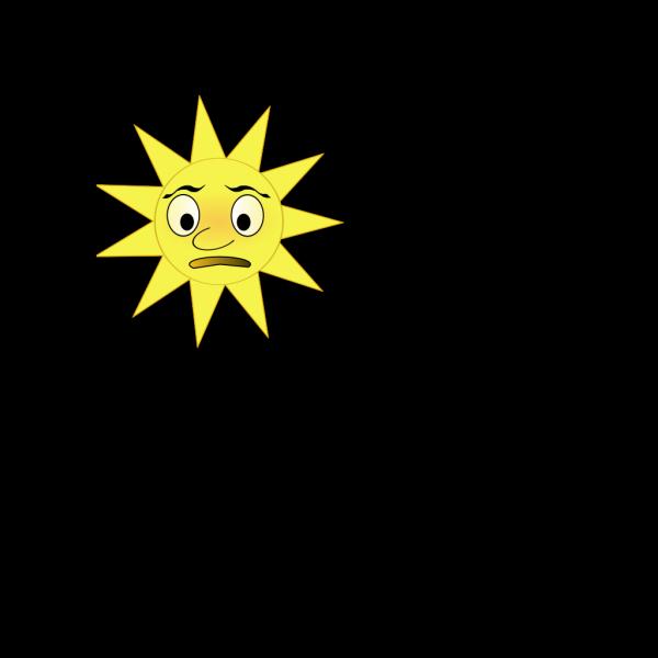 Sun With Long Cloud PNG Clip art