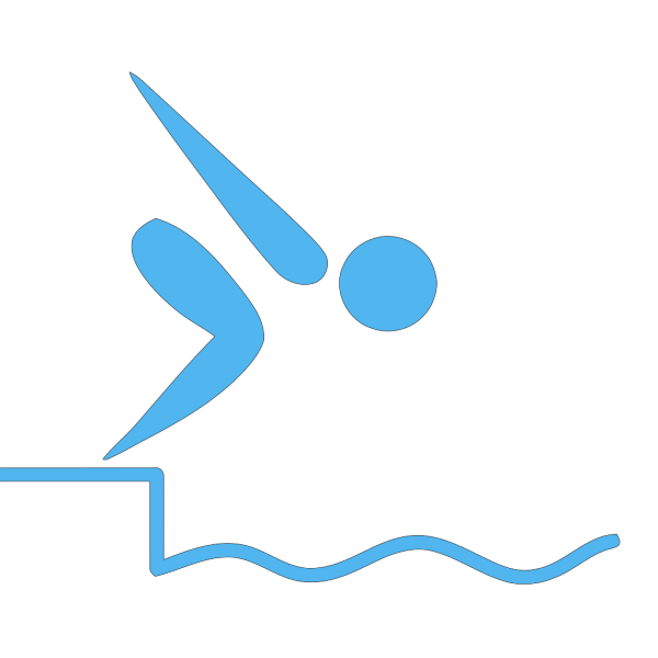 Swimmer Blue PNG icons