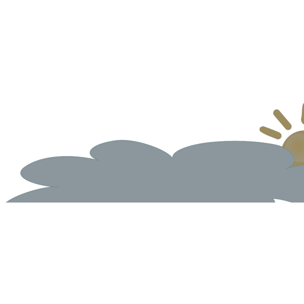 Sun With Long Cloud Large PNG Clip art