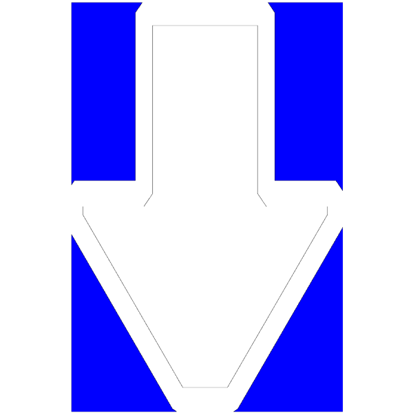 Arrows Down(blue) Clip art