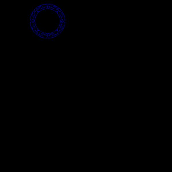 Scroll Circle Blue PNG Clip art