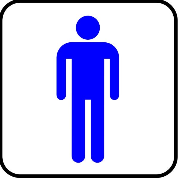 Man Blue With Boarder PNG Clip art