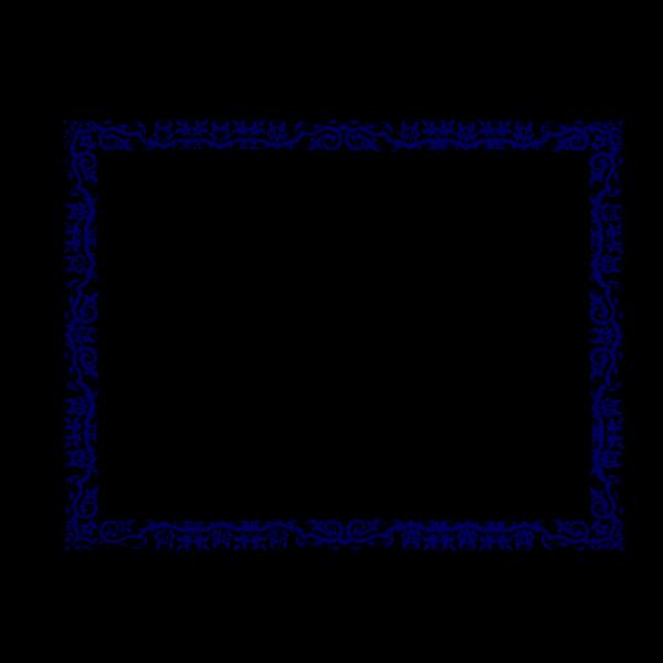 Blue Border 3 PNG Clip art